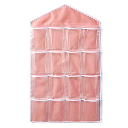 VXYUSF 16 Taschen frei über Tür Hängetasche Kleiderbügel Aufbewahrung Ordentlicher Organizer Für Badezimmer Badezimmer Haushalt Haushaltsartikel