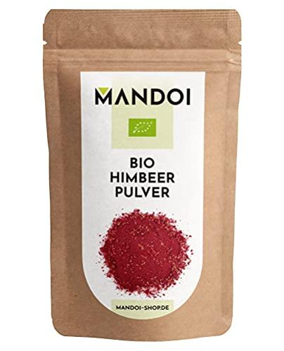 Mandoi BIO Himbeer Pulver, 80 g, 100% reine Himbeeren Raspberry powder gefriergetrocknet ohne Zusätze