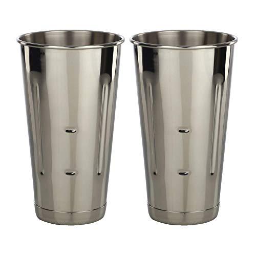 Libertyware Stainless Steel Malt Milkshake Mixing Cup 2 Pack - Two Ice Cream and Milkshake Machine Cups - 30 oz Stainless Steel Malt Milkshake Cup for Milkshake Machines - Two 30 oz Cups