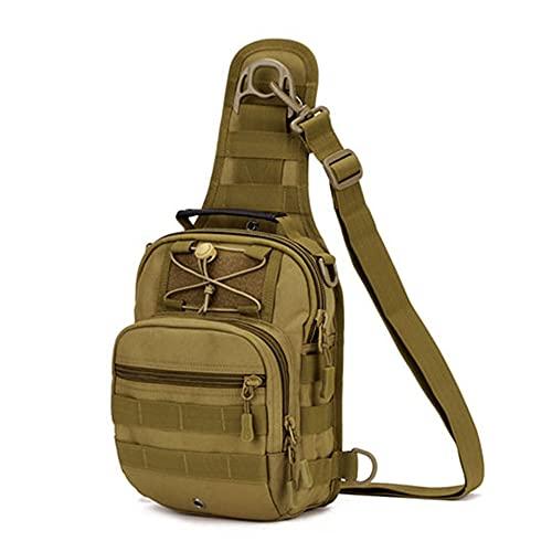 JJBKT Nylon hombro mensajero bolsa impermeable militar táctica mochila hombres pecho bolsa al aire libre Molle bolso 4 colores, Hombre, 3076431088, caqui, Other