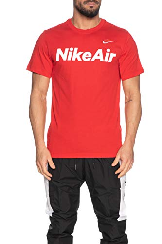 Nike Herren M NSW AIR SS Tee T-Shirt, University red/(White), S
