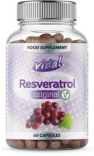 Resveratrol Original | Maximum safe dosage of Trans-Resveratrol | Vegetarian | 60 Capsules