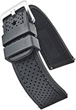 ALPINE Premium quality waterproof silicone watch band strap with quick release – Soft rubber black watch band 22mm