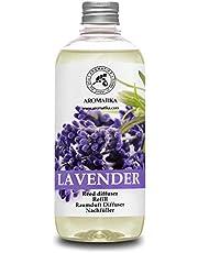 Navulling Geurstokjes Lavendel 500ml - Intensieve - Verse Langdurige en Frisse Geur - Verdampingsduur van 50 weken - Aromatherapie - Diffuser - Luchtverfrisser - Huisparfum - Geurolie - Hergebruik Geurverspreider van Aromatika.