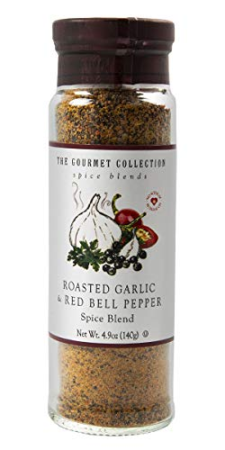 The Gourmet Collection Spice Blends Roasted Garlic and Red Bell Pepper Blend – Garlic Powder Seasoning for Cooking – Salt Free!