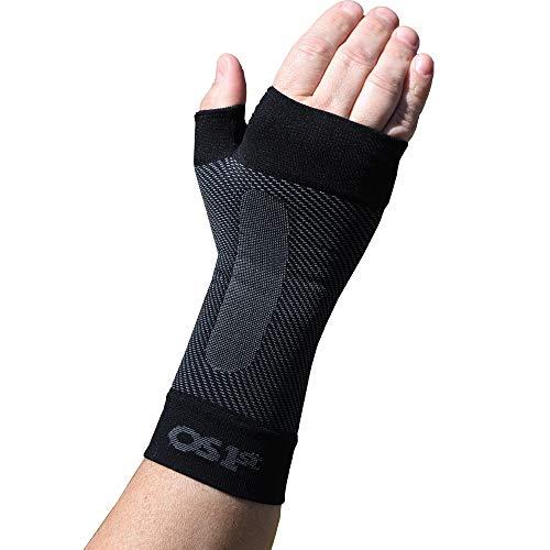 Orthosleeve® WS6 Handgelenkbandage | Schwarz Größe M (Handgelenkumfang 16-18,5 cm.) | Exklusive Kompressionstechnologie® mit 6 Zonen | Leichter, flexibler Komfort | Passt sich dem Handgelenk an | Schmerzlinderung bei Karpaltunnelsyndrom, Versauchung, Arthritis | Fördert die Durchblutung