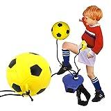 LIOOBO Juego de Entrenamiento de Fútbol para Niños Banda de Fútbol Football Trainer Banda Cuerda Elástica de Fútbol Ayuda al Entrenamiento de Fútbol
