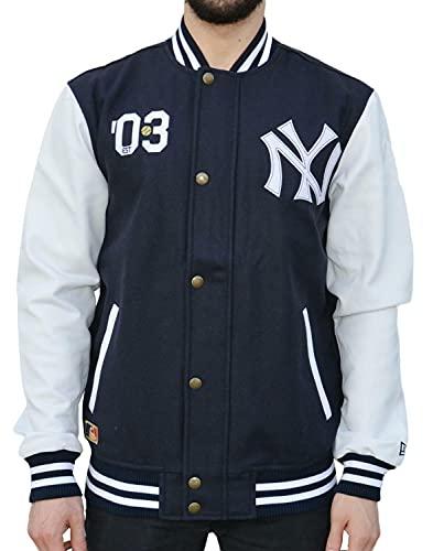 New Era Ne90102Fa16 CT Letterman Neyyan Chaqueta-Línea York Yankees, Hombre, Azul (Navy), S