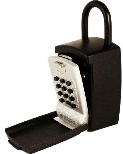 KeyGuard SL-501 Punch Button Large Capacity Key Storage Shackle Lock Box, Black Finish