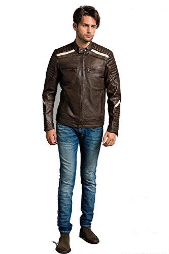 Urban Leather UR-333 Simon Chaqueta de Caballero, Ontorio Marrón, tamaño S