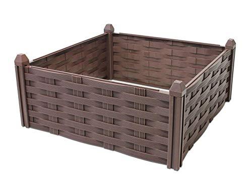 Kunststoff Beeteinfassung braun - 45x45 cm - Beet Umrandung Begrenzung Steckzaun