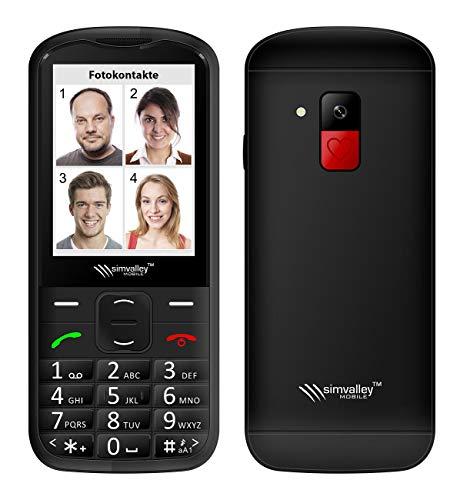 simvalley MOBILE Senioren Handy: Komfort-Handy mit Garantruf Premium, Bluetooth und XXL Farb-Bildschirm (Mobiltelefone)