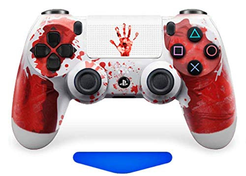 PS4 Custom UN-MODDED Controller Exclusive Unique Designs - Multiple Designs Available CUH-ZCT2U (Bloody Hands White with Custom touchpad)