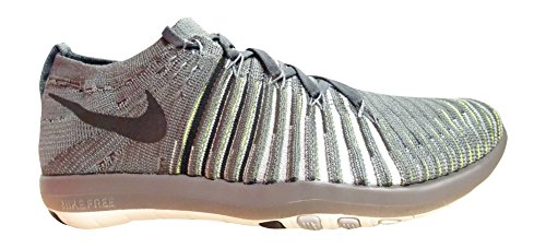 NIKE Free Transform Flyknit Womens Running Trainers 833410 Sneakers Shoes (US 6.5, Dark Grey Black Wolf Grey 004)