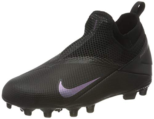 Nike PHNTM VSN 2 Academy, Football Shoe, Black/Black, 32.5 EU
