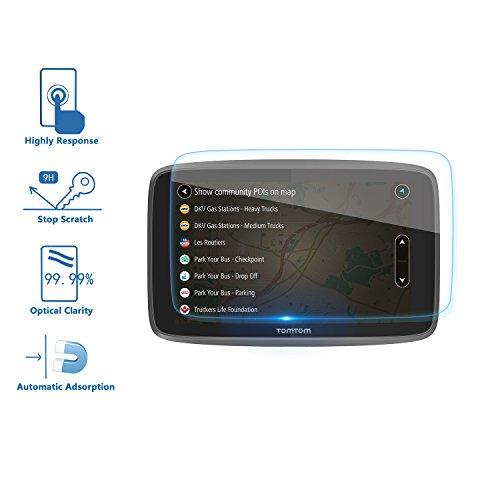 [2 piezas] LFOTPP Protector de Pantalla para TomTom GO 620 6200 6250 GPS Pelicula Protectora de Cristal Templado - 9H Anti-arañazos Transparente