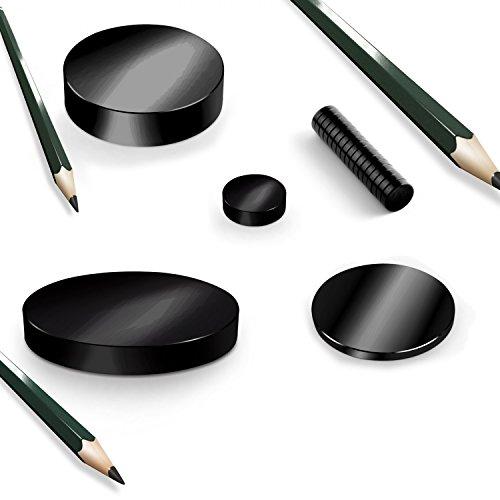 BlackEdition Neodym Magnete Scheiben N45 SCHWARZ, Black:D80mm-H10mm N45 300Kg (1St.)