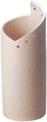 ヤマ庄陶器 傘立て クリーム色など 約径22.0×高56.0cm 信楽焼 白スパイラル傘立