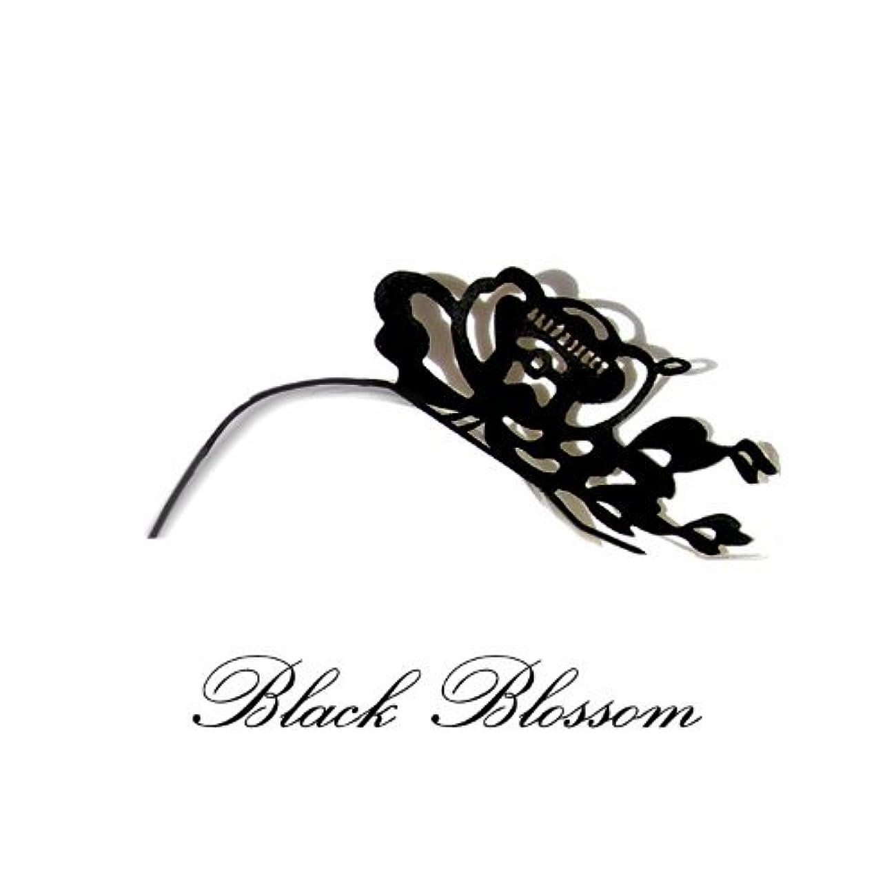 話すスイッチ楽観的つけまつ毛 ペーパーアイラッシュ パーティーやイベントにおすすめ 商品名:ブラックブロッサム(花柄)