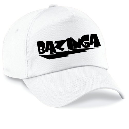 Shirtinstyle Casquette Baseball Bazinga Film Style Casquette Capy Taille Unisexe Beaucoup de Couleurs - Blanc, Unisex