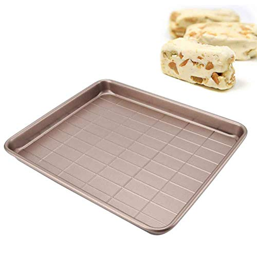 ALEOHALTER Non-Stick Nougat Baking Sheet, Pastry Baking Tool Pan Box Mold, Cutting Carbon Steel Nougat Mould Great for Nougat,Candy,Handmade Chocolate