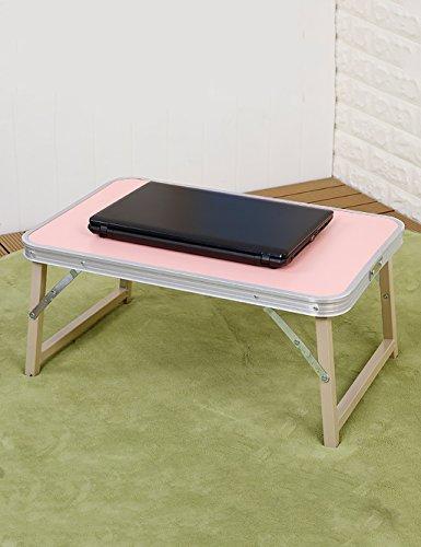 Table d'ordinateur Portable Pliante Table d'accueil Paresseux étudiant Bureau (3 Couleurs Disponibles) (Couleur : C, Taille : L*W*H:72 * 48 * 31cm)
