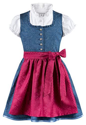 Stockerpoint Mädchen Kinderdirndl Kathi jr. Kleid für besondere Anlässe, bleu-Beere, 110-116