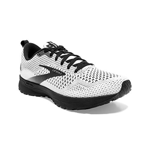 Brooks Womens Revel 4 Running Shoe - White/Black - B - 8