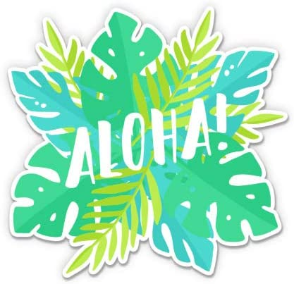 Waterproof Decal Aloha Tropical For Car Laptop I-Pad Phone Helmet Hard Hat 3 Vinyl Sticker