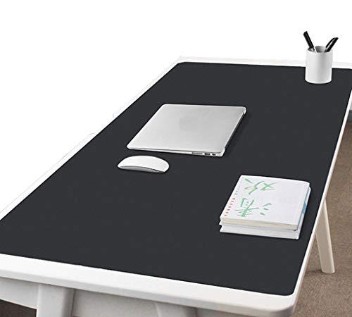 Preisvergleich Produktbild CIEEIN CIEHT Haushalt Bürobedarf PU-Leder Mauspads Tischunterlage Handgelenkauflagen Tischmatte Laptop Matte Wasserdicht Einseitig Schwarz 120x60cm