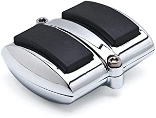 Krator Chrome Brake Pedal/Heel Shift Pad Cover Rubber For Honda Shadow 1100 Sabre 2002-2007 Brake Pedal