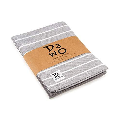 DaWo 3er-Set Geschirrtücher/Küchentücher aus 100% Baumwolle in Hellgrau mit Aufhänger   Öko-Tex Standard   weitere Farben erhältlich   50x70 cm   stark mit 200g/m2 (Hellgrau)