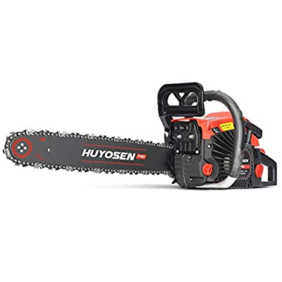 HUYOSEN PRO Professional Gas Chainsaws 58cc 2-Stroke Gas Powered Chain Saw 20-Inch Chainsaw Chain with Tool Kit for Cutting Forest Wood Garden Trimming Tools