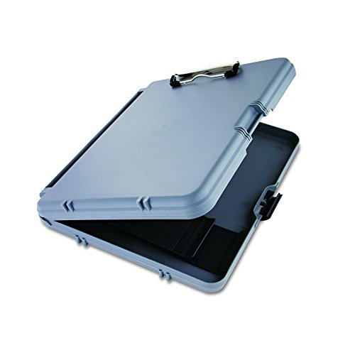 Saunders WorkMate 00470 Plastic Storage Clipboard - Gray, Letter Size Plastic Form Holder, 8.5 x 12 Inches, with Low Profile Clip