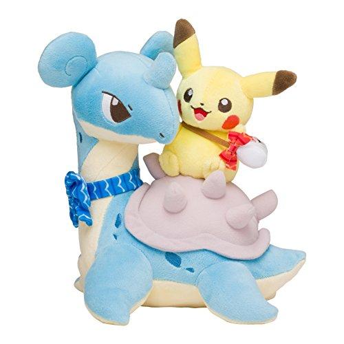Pokemon Center Original Plush Toy Peluche Pikachu Riding Lapras Lokhlass