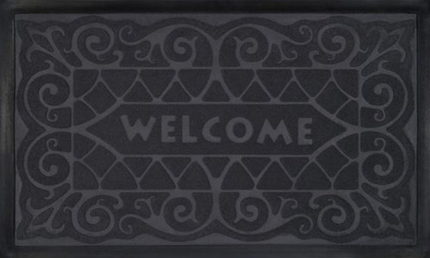 Ben&Jonah Collection Welcome Mat 18x30 Wrought Iron - Grey