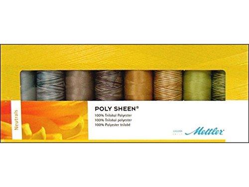 Mettler POLY BRILLO 100/% Poliéster 18 estándar Hilo de Coser Bordado Crafts