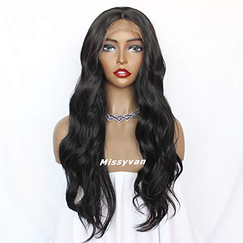 Missyvan Burg Red color synthetic Lace Front WIG Long Loose parrucca capelli ricci 180% Density lunghi ricci con bambino naturale per le donne 55 cm