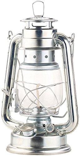 Lunartec Petroleumlampen: Nostalgische Petroleum-Sturmlaterne mit Glaskolben, verzinkt, 24 cm (Laterne Öllampe)