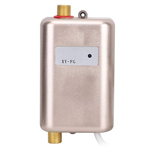 Calentador de agua instantáneo, mini calentador de agua instantáneo frío caliente con luz indicadora para la cocina del baño del hogar, calentador de agua eléctrico sin tanque(EU Plug 220V 3800W)
