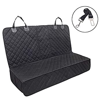 Dog Seat Cover 100% Waterproof Pet Seat Cover,Bench Car Seat Cover Protector Scratch Proof Nonslip Durable Soft Pet Back Seat Covers for Cars Trucks & SUVs