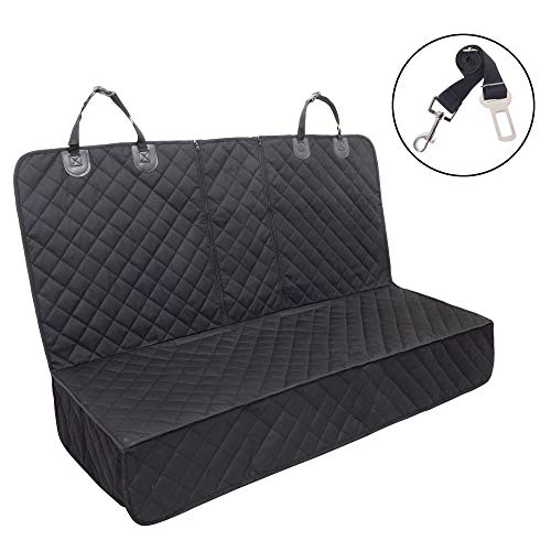 Dog Seat Cover, 100% Waterproof Pet Seat Cover,Bench Car Seat Cover Protector Scratch Proof Nonslip Durable Soft Pet Back Seat Covers for Cars Trucks & SUVs