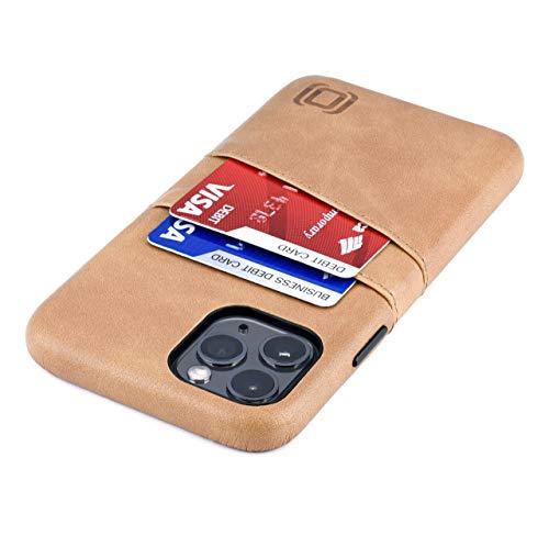 Dockem Exec M2 Funda Cartera para iPhone 11 Pro (5.8): Funda Tarjetero Slim con Placa de Metal Integrada para Soporte Magnético: Serie M [Caqui]