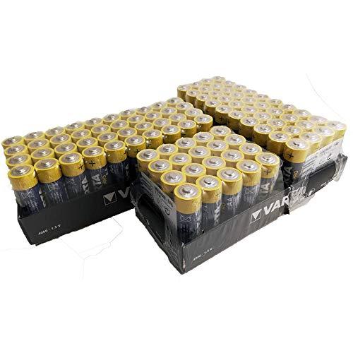 100 x Varta 04006 Batterien Alkaline, Mignon, AA, LR06, 1.5V Industrial, Shrinkwrap