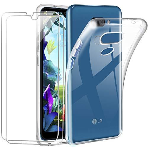 Kaliter Funda para LG K40s + [2 Pack] Cristal Templado Protector de Pantalla,Suave TPU Transparente Gel Silicona Anti-arañazos Protectora Carcasa para LG K40s (6,1 Pulgadas)