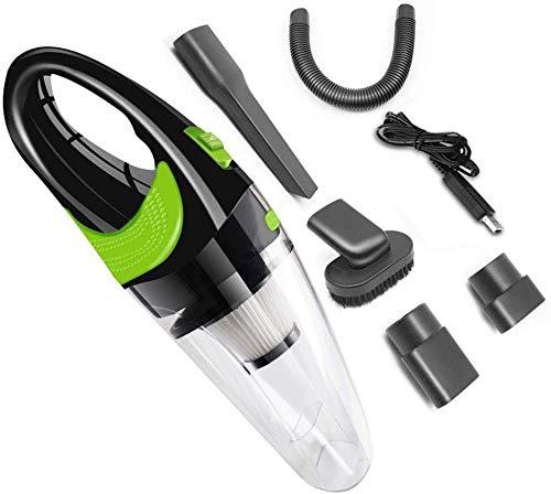 Mnjin Geräuscharmer Haushaltsstaubsauger Autostaubsauger 120W Hochleistungs-HEPA-Filter Trocken- und Nasssauger für das Auto zu Hause