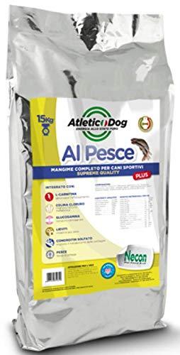 Necon Crocchette Cani, Crocchette per Cani da 3Kg. Croccantini Premium 100% Italiane Adatto A Cani Adulti Specifico per Organismo E Sistema Digerente Delicato. con 40% di Pescato Baltico.