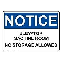 ヴィンテージの壁の装飾、インチ、通知エレベーター機械室保管不可公園の標識公園のガイド警告標識私有地の金属屋外の危険標識