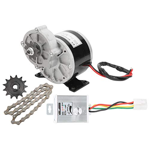 Kit Motore per Bicicletta elettrica, Kit di conversione Bici elettrica ad Alta velocità 12V 250W DC con regolatore di velocità, pignone 13 Denti, Catena a 38 sezioni per e-Bike, Moto elettrica