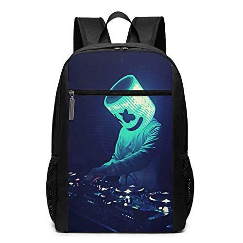 Lushiqing Marsh-Mello Backpack 17 Inch Laptop Backpack with Large Capacity Business Backpack College Men's and Women's Teens
